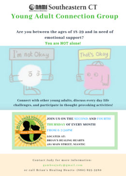 Niantic Young Adult Group Flyer
