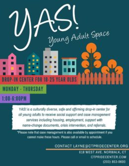 Young Adult Space! (YAS!) Drop-in Center