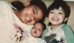 dominique with her siblings