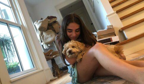 sasha with dog